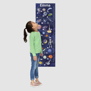 canvas space growth chart with name
