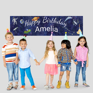 canvas space birthday banner