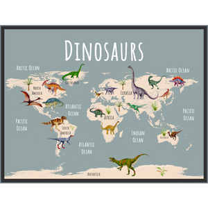 dinosaur world map