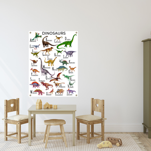 Dinosaur Alphabet Poster on Archival Fine Art Paper or Canvas