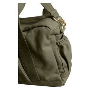 Organic Canvas Diaper Bag Olive edge