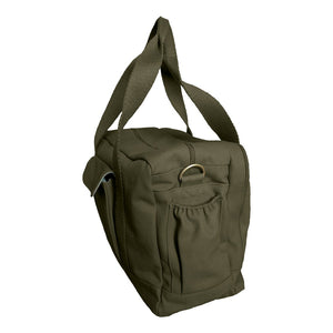 Organic Canvas Diaper Bag Olive from side