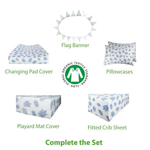 Turtle blue bedding set – GOTS-Certified Organic Cotton