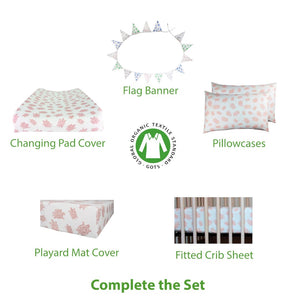 Pink Turtles bedding set – GOTS-Certified Organic Cotton
