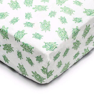 Crib Sheet in GOTS-Certified Organic Cotton – Turtle Green