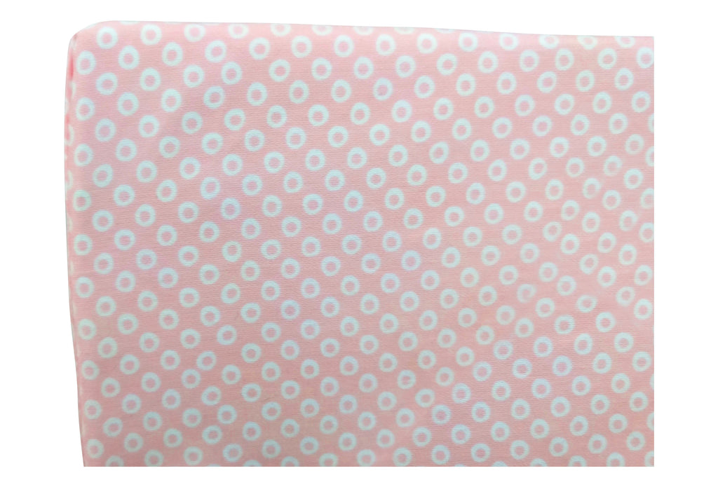 Crib Sheet in GOTS-Certified Organic Cotton – Shibori Pink