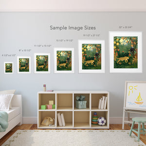 size options for jungle print