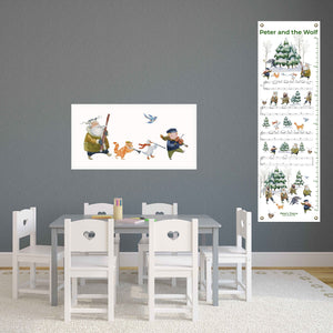Peter & the Wolf Canvas Growth Chart