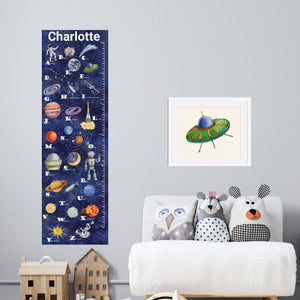 Canvas Space Alphabet Growth Chart