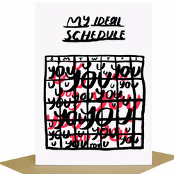 Ideal Schedule You Card