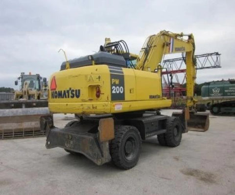 Komatsu PW200-7K PW220-7K Wheeled Excavator Official Workshop Service Repair Manual