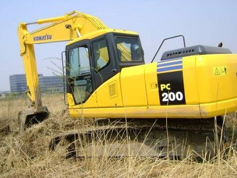 Komatsu PC200-7 PC200LC-7 Hydraulic Excavator Official Workshop Service Manual