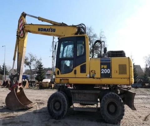 Komatsu PW200-7E0 PW220-7E0 Wheeled Excavator Official Workshop Service Repair Manual
