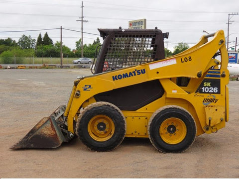 Komatsu SK1026-5 Turbo Skid Steer Loader Official OEM Workshop Service Repair Manual