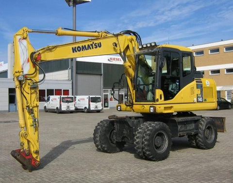 Komatsu PW140-7 Wheeled Excavator Official Workshop Service Repair Manual
