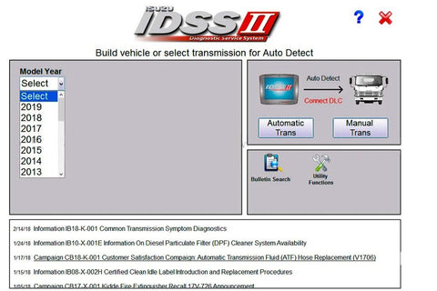 Isuzu IDSS II Diagnostic Service System - Full diagnostics Software Latest 2019 - Online Installation Service !