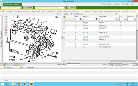 John Deere Parts Advisor 2020 EPC -John Deere & Hitachi Models (CF & AG & CCE ) Parts Manuals Software 2020