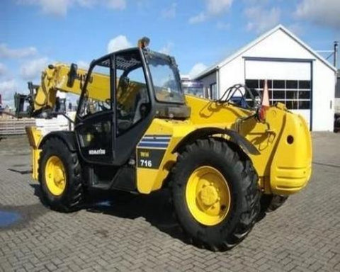Komatsu WH714H-1 WH716-1 Telescopic Handler Official Workshop Service Manual