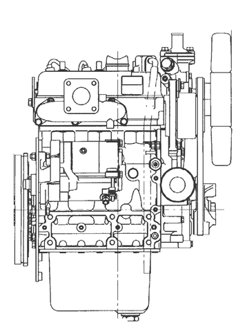 Komatsu 67E-1 Series Diesel 3D67E-1A Diesel Engine Official Workshop Service Repair Manual