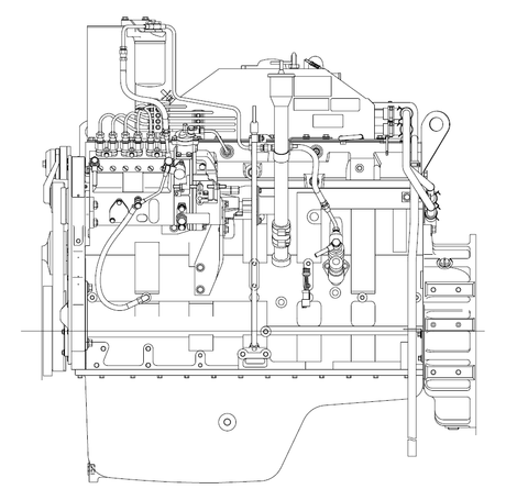 Komatsu 114 Series SA6D114E-2 Diesel Engine Officia Service Repair Manual