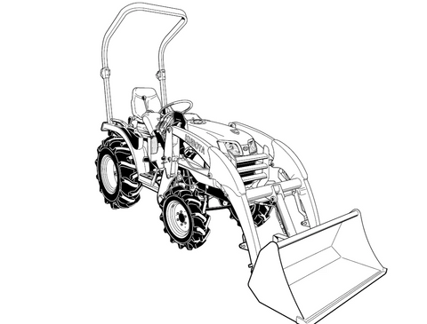 Kubota LA213 Tractor Official Assembly Instruction Manual