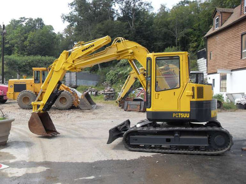 Komatsu PC75UU-1 Mini Excavator Official Workshop Service Repair Technical Manual