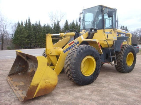 Komatsu WA200-5 WA200PT-5 Wheel Loader Official Workshop Service Repair Technical Manual