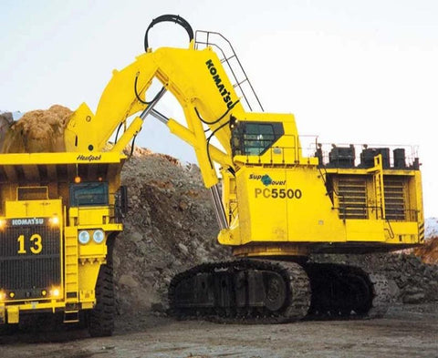 Komatsu PC5500-6 Hydraulic Mining Shovel Official Workshop Service Repair Manual