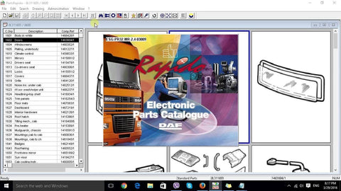 DAF Rapido 2016 Parts Catalog EPC - All DAF Models Covered up To 2016