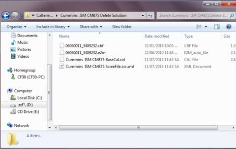 ISM CM875 ECI Flash File Delete EGR Include Screen File