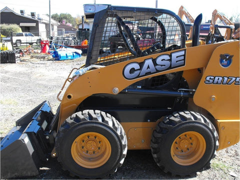 CASE SR175 SR250 SV185 SV250 SV300 Alpha Series Skid Steer Loader Workshop Service Manual