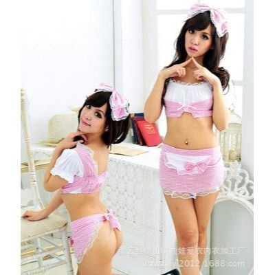 #27 Sexy lingerie maid uniform seduction Size 100cm - 175cm