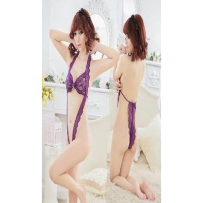 #33 Sexy lingerie open breast exposed three-point perspective temptation Size Black Only 100cm - 175cm