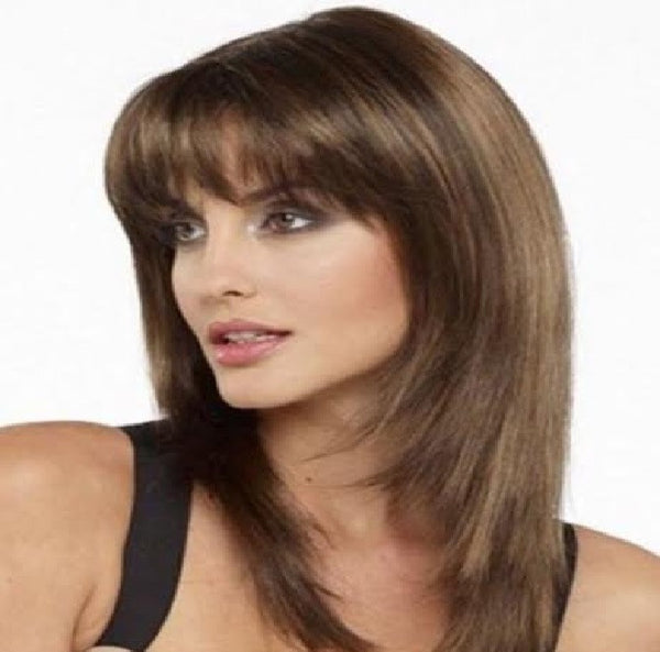Brown Long with Bangs Sex Doll Wig #7
