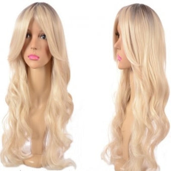 long roll wig curley blonde Sex Doll Wig #26