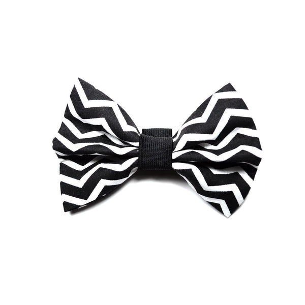 "The ""Black Chevron"" Dog Bow Tie - ArgusCollar"