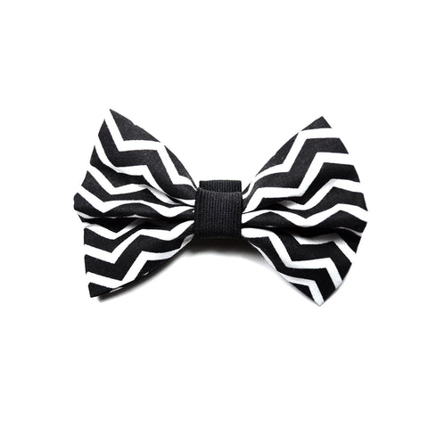 "The ""Black Chevron"" Dog Bow Tie"