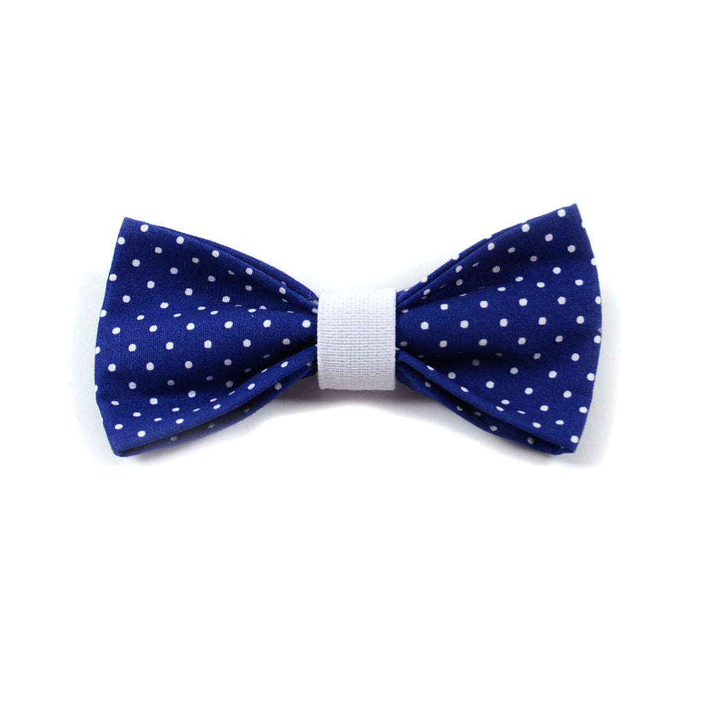"The ""Blue Polka Dot"" Dog Bow Tie"