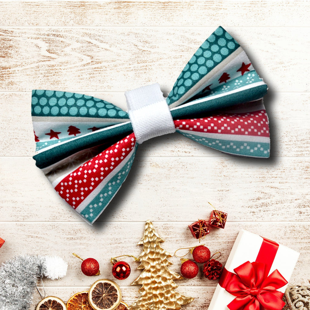 "The ""Merry Christmas"" Dog Bow Tie"