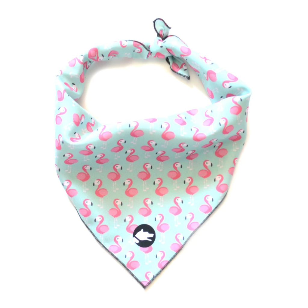"The ""Flamingo"" Dog Bandana - ArgusCollar"