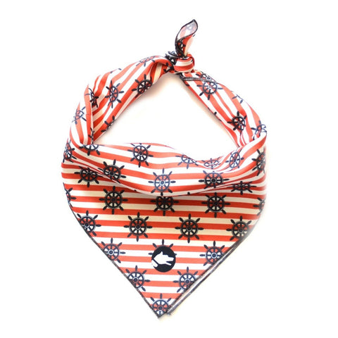 "The ""Nautical"" Dog Bandana - ArgusCollar"