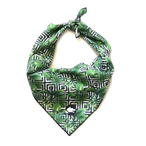 "The ""Palm Tree"" Dog Bandana - ArgusCollar"