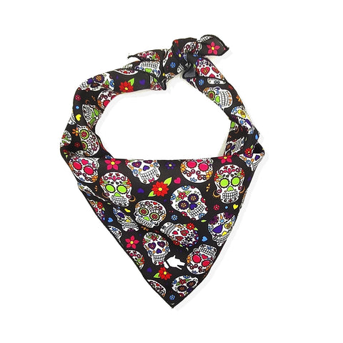 "The ""Happy Skull"" Dog Bandana - ArgusCollar"
