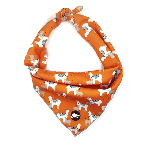 "The ""Lama"" Dog Bandana - ArgusCollar"