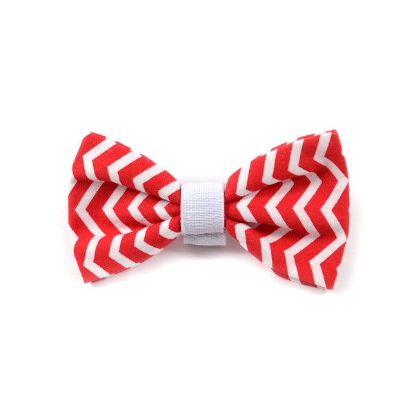 "The ""Red Chevron"" Dog Bow Tie - ArgusCollar"