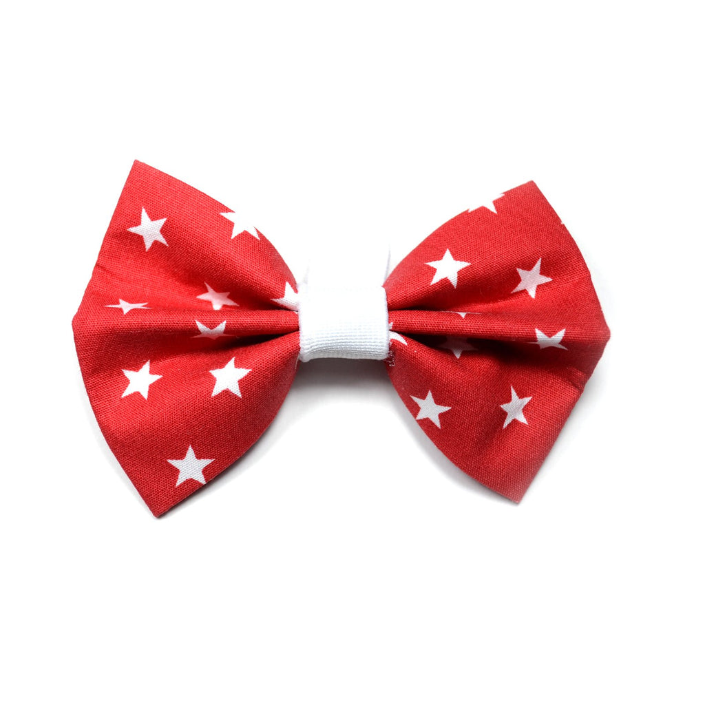 "The ""Red Star"" Dog Bow Tie"