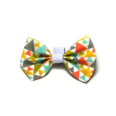 "The ""Triangles"" Dog Bow Tie - ArgusCollar"