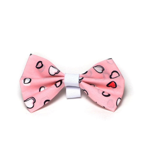 "The ""Love hearts"" Dog Bow Tie"