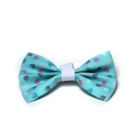 "The ""Cielo hearts"" Dog Bow Tie - ArgusCollar"