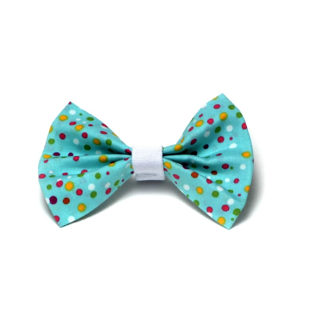 "The ""Crazy dots"" Dog Bow Tie - ArgusCollar"